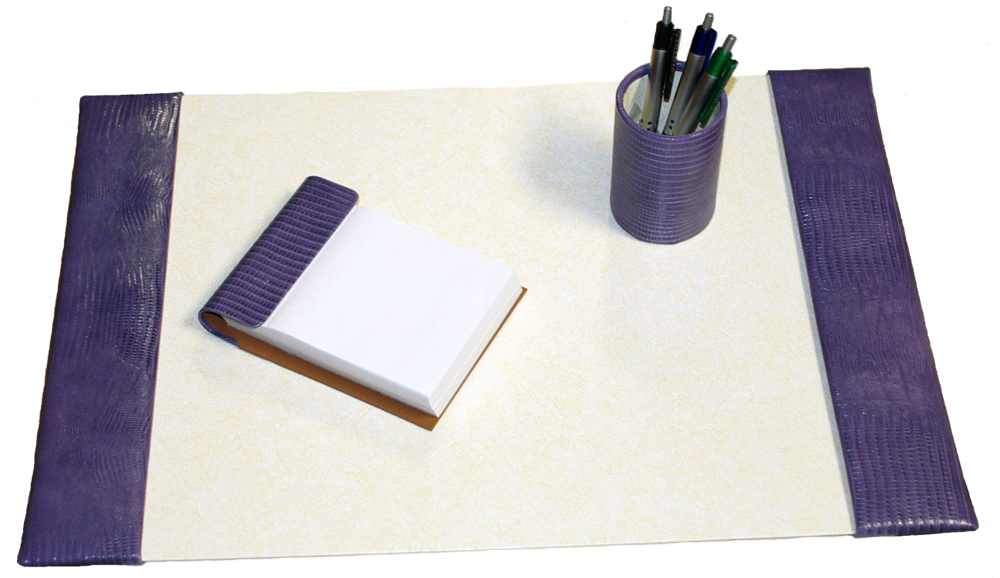 Well-liked Small 3-Piece Croco-Grain Leather Desk Pad Sets WK88