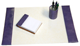 small 3-piece croco leather desk set