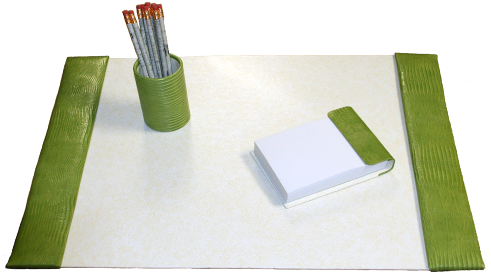 Fresh Medium 3-Piece Crocodile Grain Leather Desk Pad Sets LV22