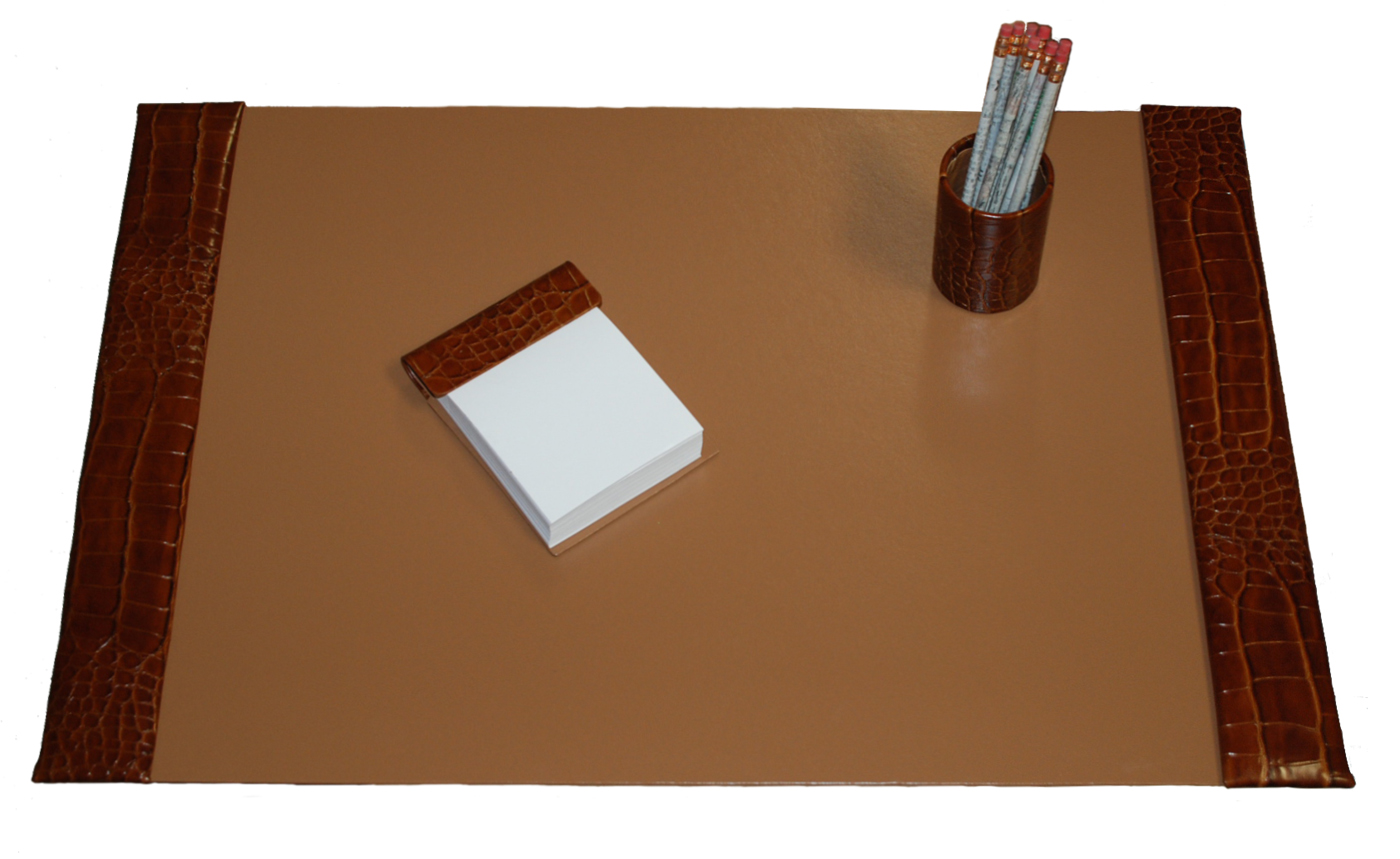 Large 3 Piece Reptile Grain Leather Desk Pad Sets With Free In The Continental United States