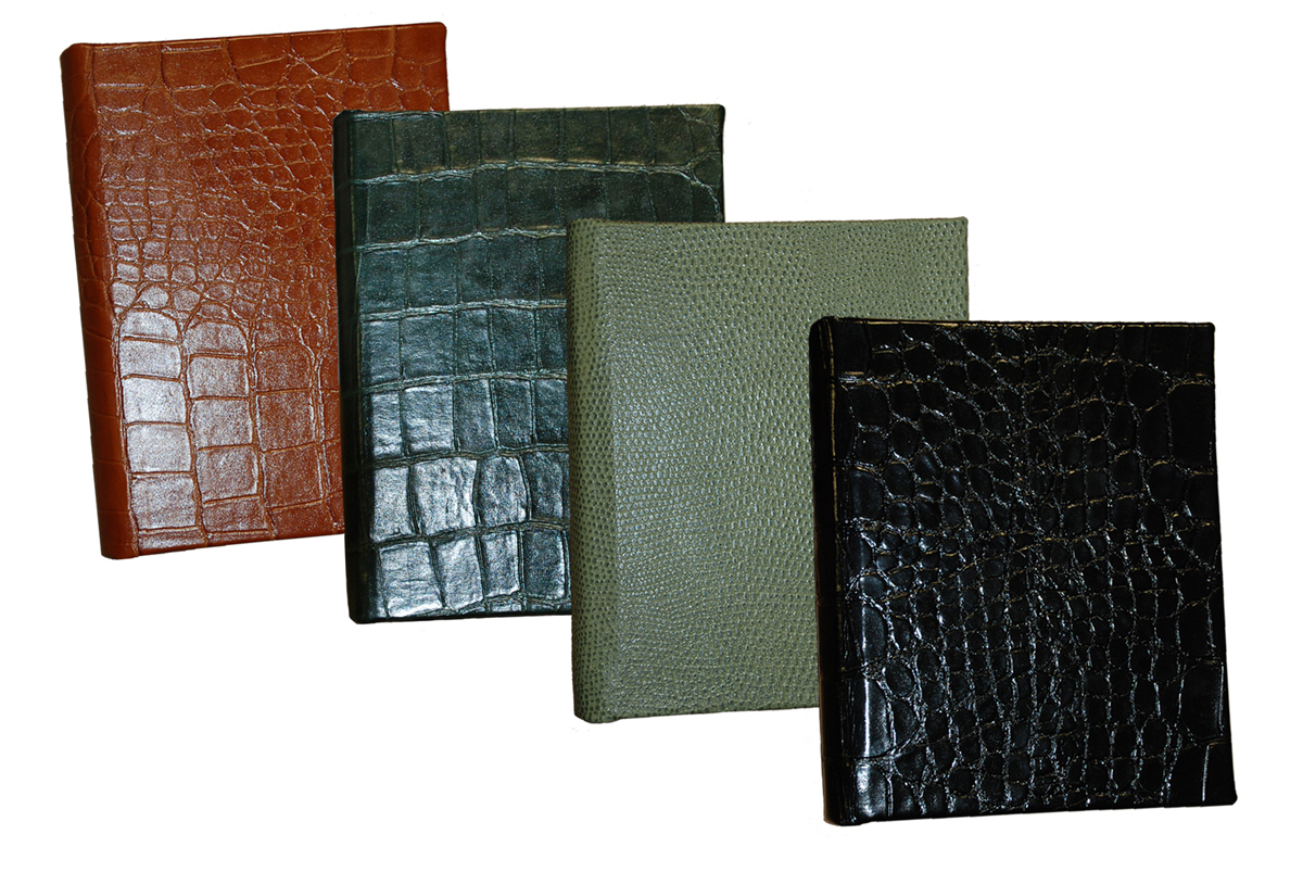 7 x 9 reptile grain leather address books with free shipping in the continental united states