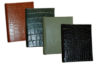 hunter, luggage, black and jade 7 x 9 address books