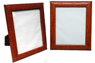 reptile-embossed leather 8 x 10 picture frames