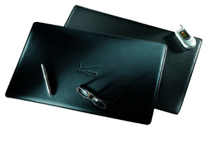 black leather desk pads
