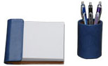 periwinkle blue pebble lizard 2 piece desk accessories set