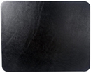 black leather conference pad