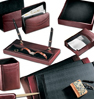8-piece leather desk set
