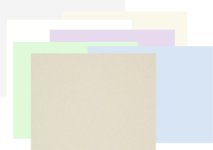 white, ivory, oatmeal, gray, blue, green and orchid desk pad paper refills