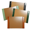 croco-debossed / reptile-debossed grain leather desk pads