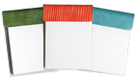 croco-grain leather notepads