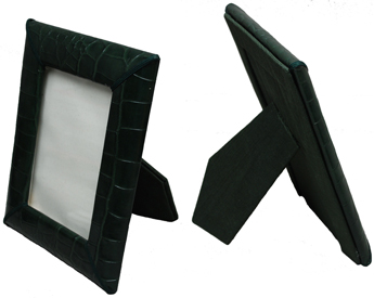 reptile-grain 4 x 6 picture frames hunter leather