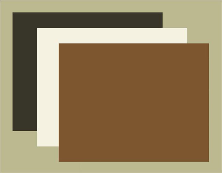Bon Light Green Brown, White And Black Blotter Paper